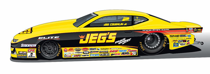 The recreation of Jeg Coughlin Jr.'s winning Pro Stock ride from 1997.