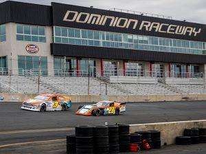 Willie Mullins (3) on track at Dominion Raceway alongside Peyton Ferree. (Dinah Mullins Photo)