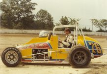 In 1979, Bubby teamed with car owner Don Siebert and legendary mechanic Jim McQueen to chase a USAC sprint car championship. (Tracy Talley photo)