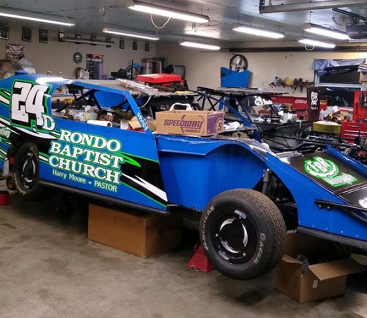 Like many, Donnie Fellers has his car in the shop and ready to go once the Lucas Oil Speedway season begins. (Donnie Fellers photo)