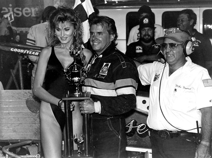 Rickey Hood in victory lane after one of his many wins. (NSSN Archives Photo)
