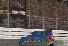 Logan Seavey bested the field to win Monday's World of Outlaws Morton Buildings Late Model iRacing Invitational at virtual Knoxville Raceway.