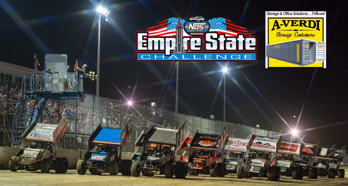 A-Verdi Storage Containers will back the World of Outlaws NOS Energy Drink Sprint Car Series event at Weedsport Speedway.