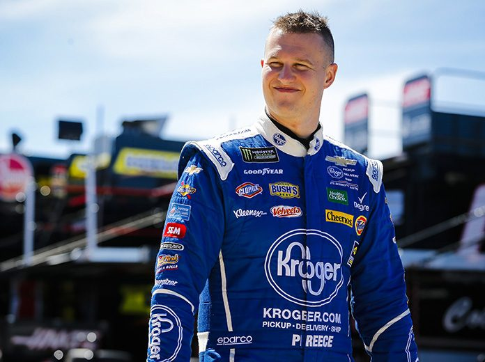 Ryan Preece (pictured) and Landon Cassill both advanced to the NBC eSports Short Track iRacing Challenge finale on Wednesday. (HHP/Barry Cantrell Photo)