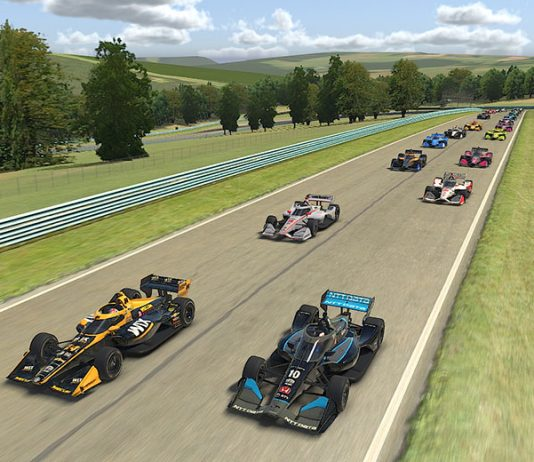 The IndyCar iRacing Challenge will move to Michigan Int'l Speedway this Saturday.