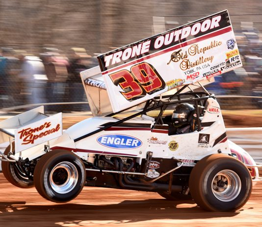 Cale Thomas at Lincoln Speedway in 2020. (Paul Arch Photo)