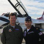 "Jeg Coughlin Jr. and Major Tony ""Split"" Mulhare of the USAF Thunderbirds"