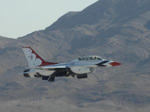 Jeg Coughlin Jr. during his ride with the USAF Thunderbirds.
