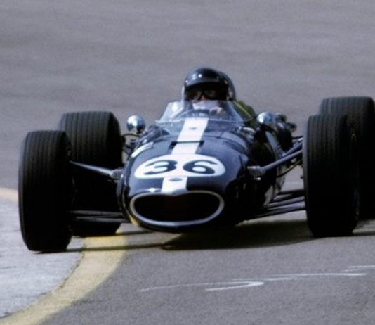Dan Gurney during the 1967 Belgian Grand Prix.