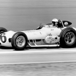 Bobby Unser aboard his Novi race car in 1963.