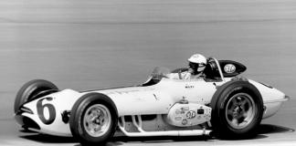 Bobby Unser aboard his Novi race car in 1963.