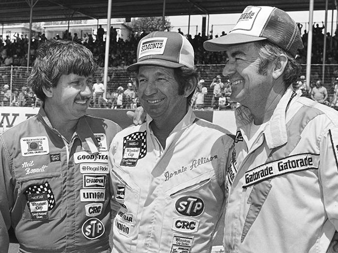 (From left) Neil Bonnett, Donnie Allison and Bobby Allison. (NASCAR Photo)