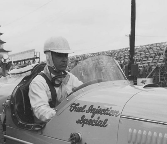 Bill Vukovich in 1954 at Indianapolis Motor Speedway. (IMS Archives Photo)