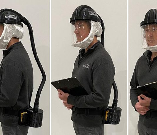 Riley Technologies has completed its first powered air purifying respirator for testing.