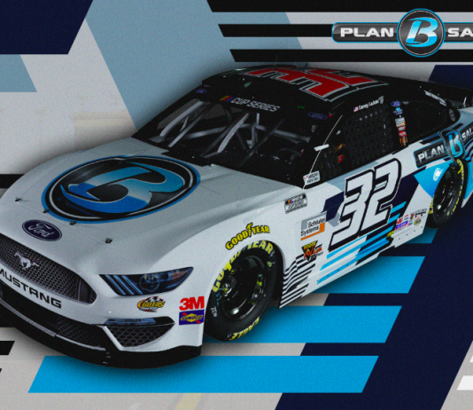 Plan B Sales will back Go Fas Racing and driver Corey LaJoie at Kansas Speedway in October.