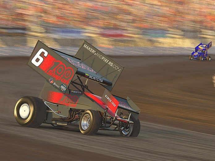 Juan Pablo Montoya is enjoying dabbling in World of Outlaws iRacing events. (Chris Owens Photo)