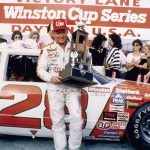 Cale Yarborough in victory lane after winning his second Daytona 500. (NASCAR Photo)