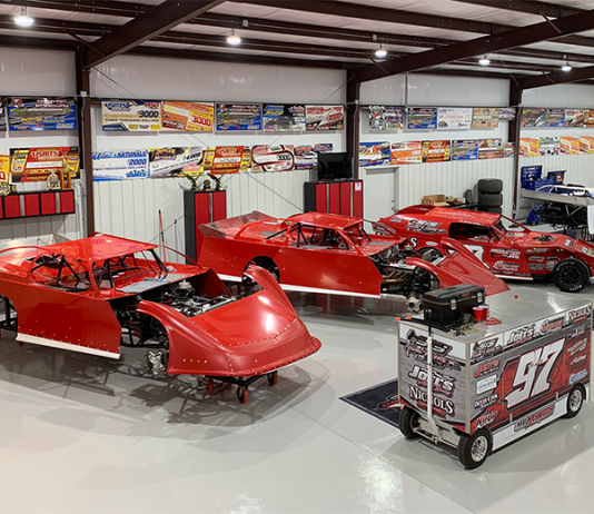 With racing on hold, Cade Dillard's car building has gone into overdrive.