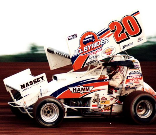 Danny Lasoski had a long and successful sprint car racing career, but he's serving in a mentorship role with Mason Daniel. (Chris Dolack Photo)