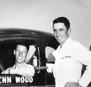 Glenn Wood (left) with his brother Ray Lee Wood, who died on May 5 at the age of 92. (Wood Brothers Racing Photo)