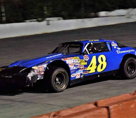 Paul Shull in action in 2019 at Kingsport Speedway. (Chad Fletcher/Auto Focus Photography)