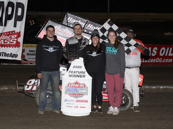 Frank Flud earned another NOW600 victory Saturday at Creek County Speedway. (Richard Bales Photo)