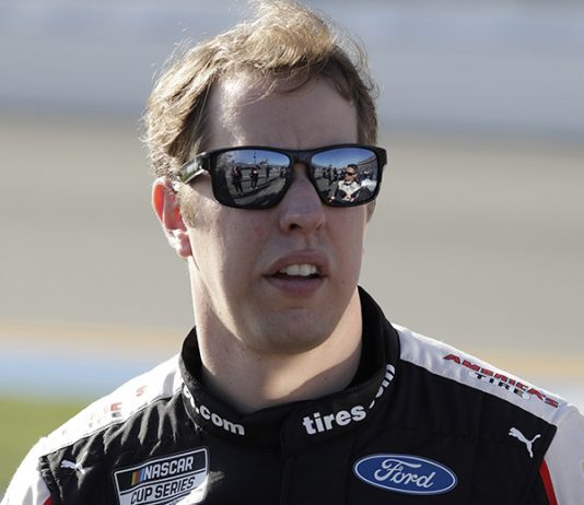 Brad Keselowski will start from the pole when the NASCAR Cup Series takes to the track Sunday at Darlington Raceway. (HHP/Harold Hinson Photo)