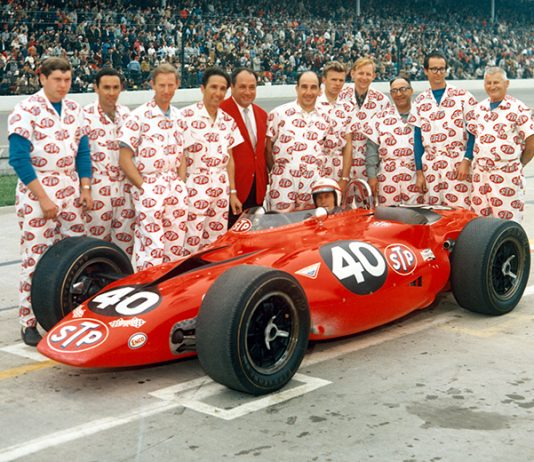 Parnelli Jones drove the turbine-powered STP entry owned by Andy Granatelli in the 1967 Indianapolis 500. (IMS Photo)