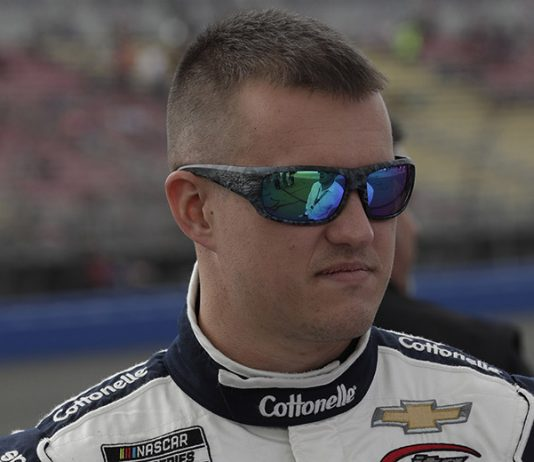 Ryan Preece will start from the pole in Wednesday's Toyota 500 at Darlington Raceway. (HHP/Harold Hinson Photo)