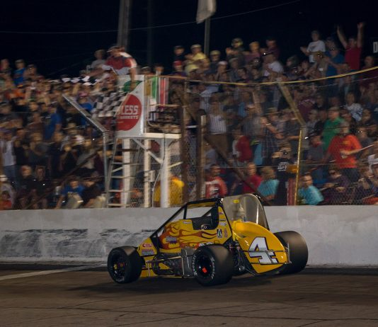 Kody Swanson wins the 2019 Little 500 at Anderson Speedway. (Dallas Breeze Photo)