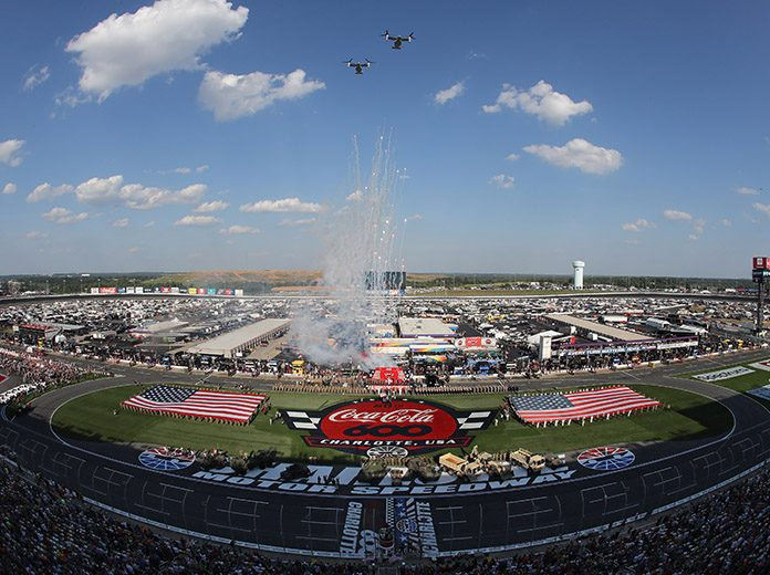 Pre-race ceremonies during the 2019 Coca-Cola 600 at Charlotte Motor Speedway. (HHP/Tim Parks Photo)