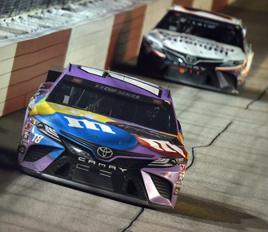 Kyle Busch took the blame for the late-race incident with Chase Elliott during Wednesday's NASCAR Cup Series race at Darlington Raceway. (Jared C. Tilton/Getty Images Photo)