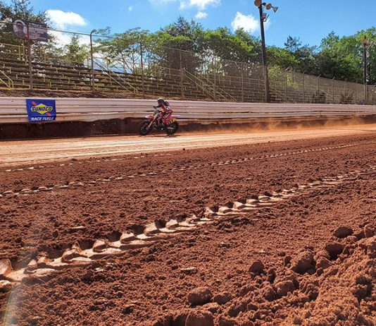 Some of flat-track racing's riders are visiting Travelers Rest Speedway this weekend for Thunder on the Mountain 3. (Pit Row TV Photo)