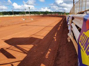 Travelers Rest Speedway is a popular testing and practice destination for flat-track motorcycle teams and competitors. (Pit Row TV Photo)