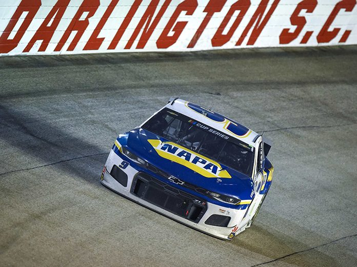 Chase Elliott doesn't believe Kyle Busch crashed him on purpose on Wednesday at Darlington Raceway. (Jared C. Tilton/Getty Images Photo)
