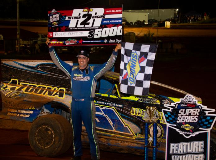 Richie Pratt Jr. won Friday's STSS modified feature at North Carolina's Tri-County Raceway. (STSS photo)