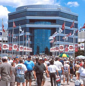 Smith Tower was completed in 1988 and is one of Charlotte Motor Speedway's most prominent features. (CMS Photo)