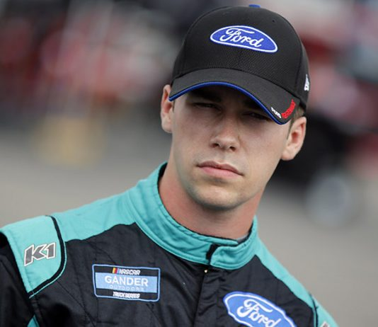 Ben Rhodes will start from the pole during Tuesday's NASCAR Gander RV & Outdoors Truck Series event at Charlotte Motor Speedway. (HHP/Andrew Coppley Photo)