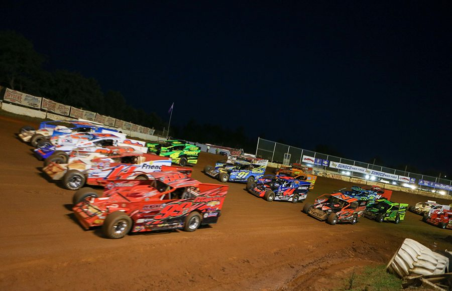 The field for Saturday's Short Track Super Series event at Cherokee Speedway prepares to go racing. (Adam Fenwick Photo)