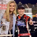 Chase Dixon in victory lane on Friday night at Kingsport Speedway.