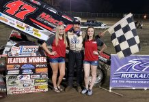 Dale Howard in victory lane. (USCS photo)