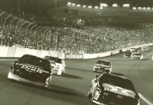 The 1992 edition of The Winston at Charlotte Motor Speedway was run under the lights.