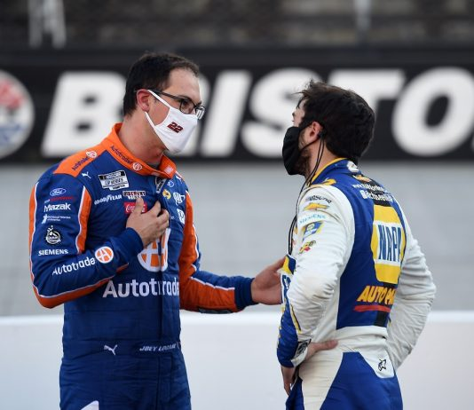 Logano & Elliott Exchange