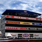 The NHRA Mello Yello Drag Racing Series will run on consecutive weekends in July at Lucas Oil Raceway in Indianapolis. (Kent Steele photo)