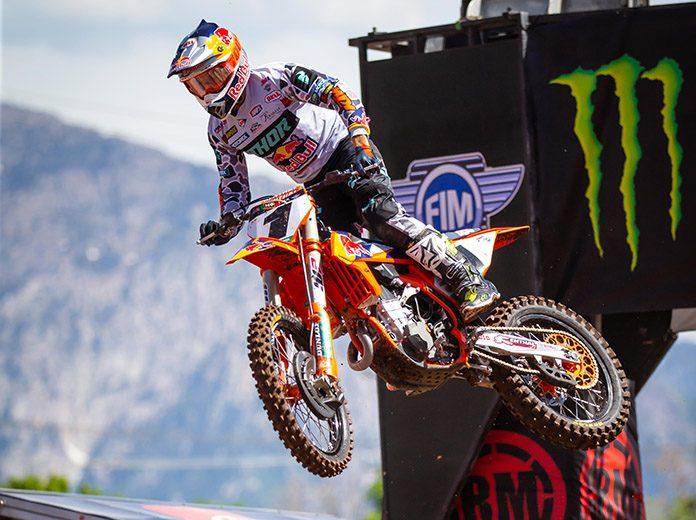 Cooper Webb topped Wednesday's Monster Energy AMA Supercross field in Salt Lake City. (Feld Entertainment Photo)