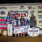 Tanner Mullens captured his first USMTS Modified feature victory Wednesday night at Lucas Oil Speedway. (GS Stanek Racing Photography)
