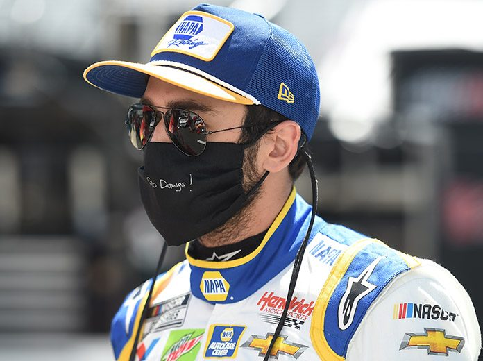 Chase Elliott will start from the pole during Sunday's NASCAR Cup Series race at Atlanta Motor Speedway. (Jared C. Tilton/Getty Images Photo)