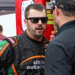 Josh Berry, shown here in 2019, has been suspended for one CARS Tour event. (Adam Fenwick Photo)