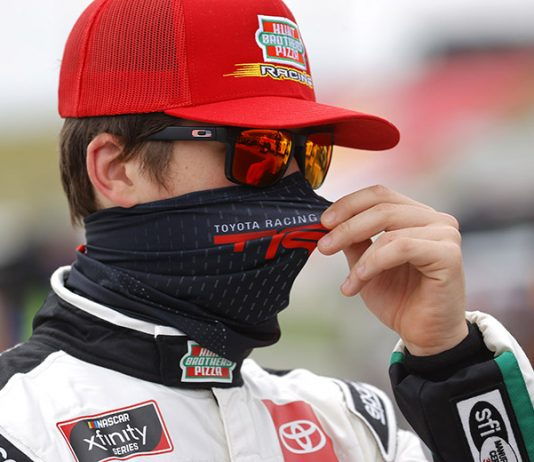 Harrison Burton will start Saturday's NASCAR Xfinity Series Hooters 250 from the pole at Homestead-Miami Speedawy. (Chris Graythen/Getty Images Photo)