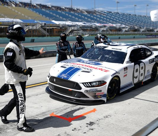Chase Briscoe will be without his crew chief for four races. (Chris Graythen/Getty Images Photo)